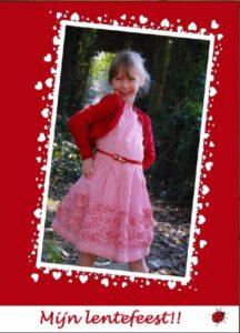 elise's lentefeest-kaartje