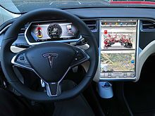Tesla Model S infotainment panel