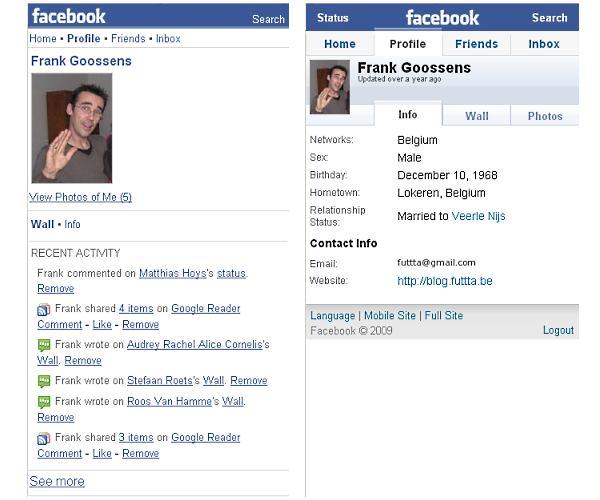facebook faceoff: profile